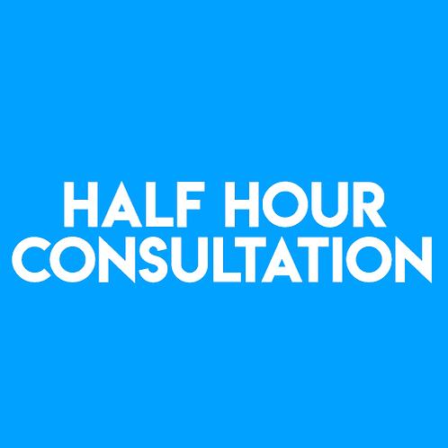 1/2 Hour Consultation