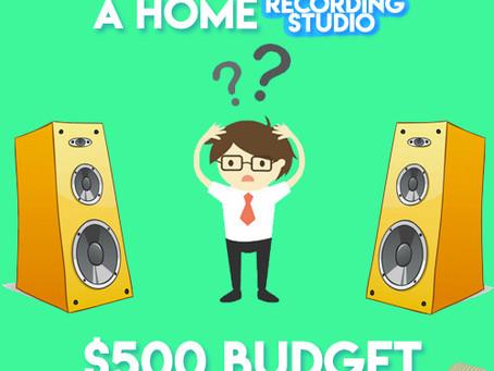 How to Build A Home Recording Studio: $500 budget