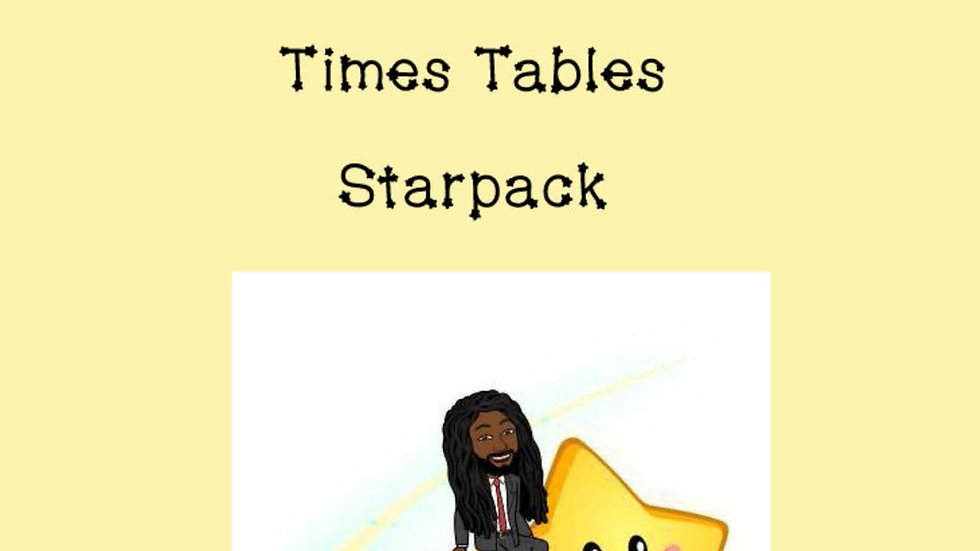 Times Tables Activity Booklet
