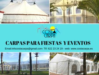 CARPAS PARA  FIESTAS Y EVENTOS