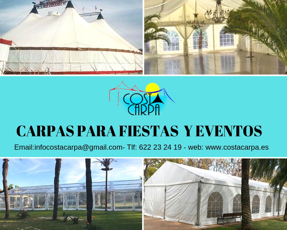 Carpas para  fiestas y eventos Elche Alicante , Murcia