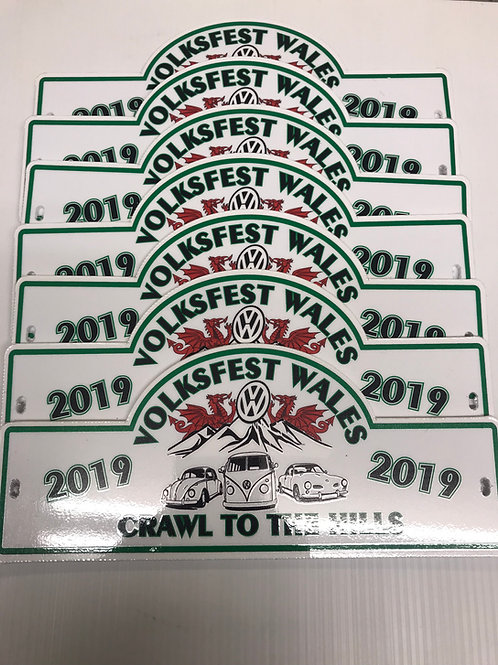 Volksfest Wales Cruise Plaque