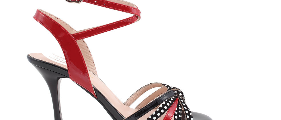 5 Band Red & Black with Dots