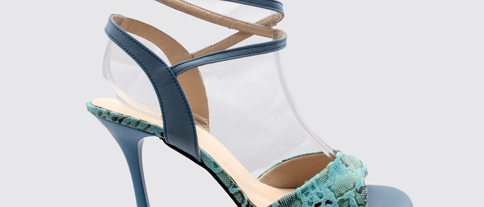 Turquoise Snake Free Ankle