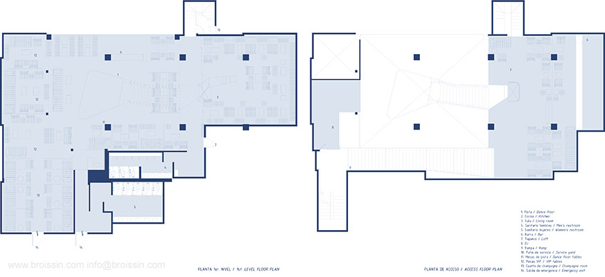 Plan first level/acces plan