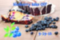 Blueberry Bakd goods, advertising the Blueberry Bake off at the Blueberry Ball on September 29th