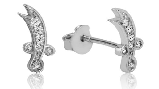 Silver Earring Zulfikar Sword