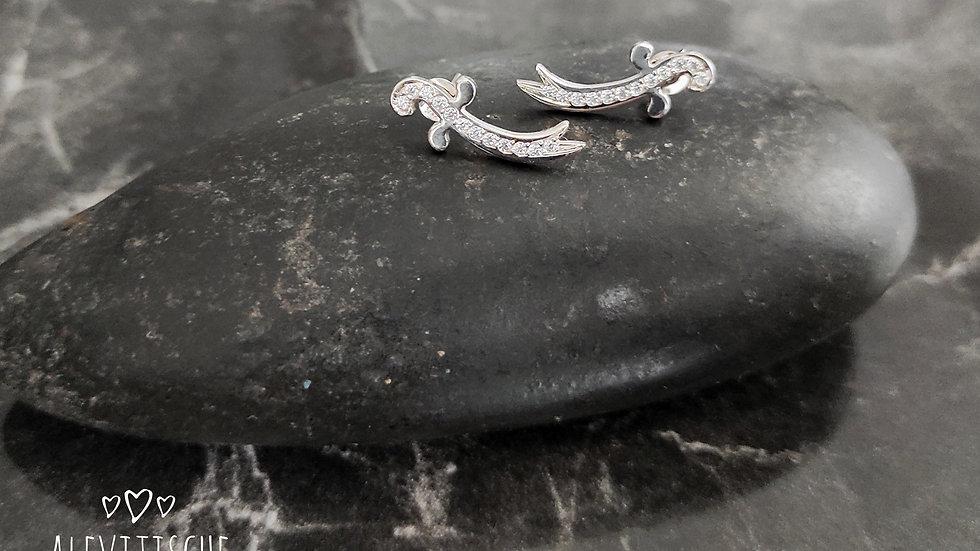 Silver Stones Earring Zülfikar 1,5cm