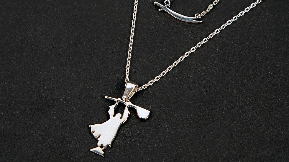 Pir Sultan Silver Necklace Set