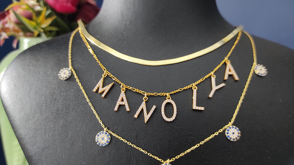 Special Name Set 3 Necklace