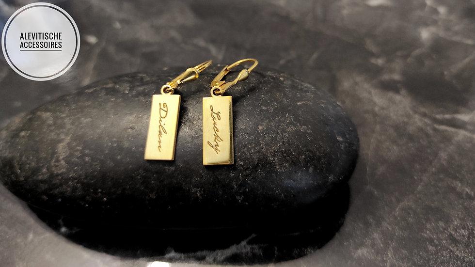 Silver Gen Gold Plated Earring