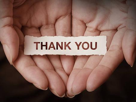 Muito obrigado(a)