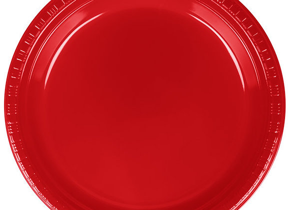 """7"""" Plates - Red"""