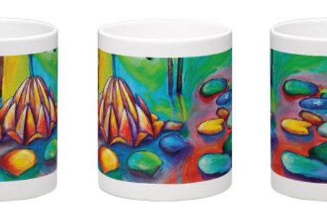 Floating Lotus Coffee Mug - 11oz Ceramic