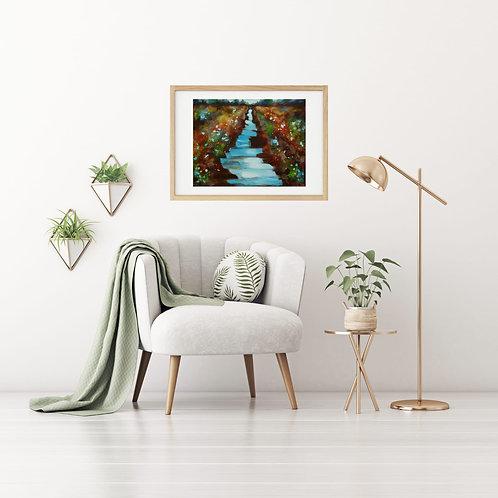 The River Flows Canvas & Art Prints