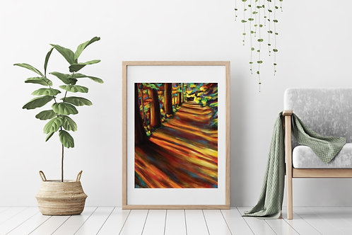 Sunset in the Woods Canvas & Art Prints