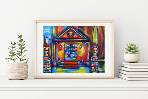 Shrine of Bahá'u'lláh Canvas & Art Prints
