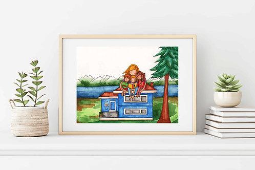 Homeschooling Fine Art & Canvas Prints