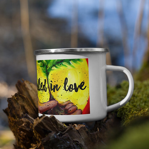 Cradled in Love Enamel Mug