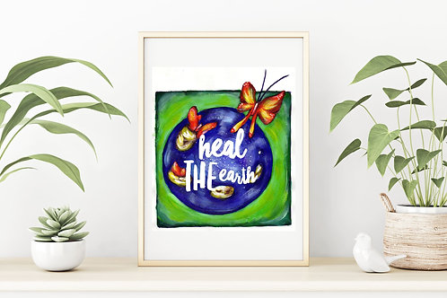 Heal the Earth Canvas & Art Prints