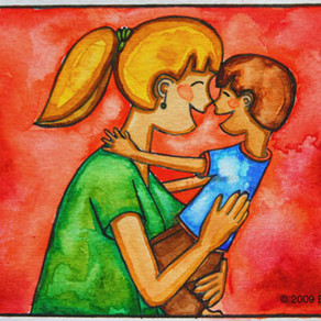 Nose Kiss – Painting