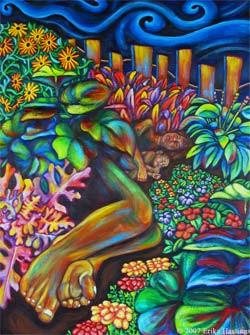 Sleeping in the Garden – Painting