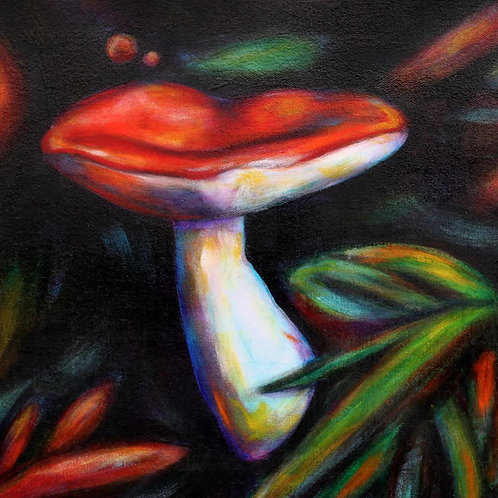 Mushroom Dance Greeting Card