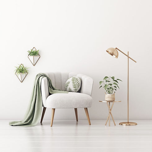 erika White Wall, Chair, Greenery (for P