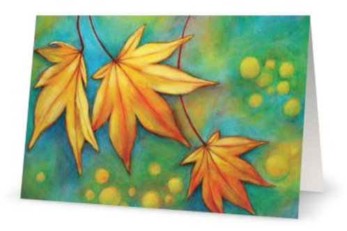 Dancing Leaves Greeting Card