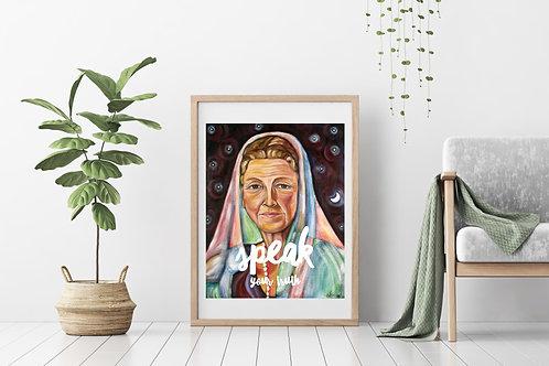 Speak Your Truth Fine Art & Canvas Prints