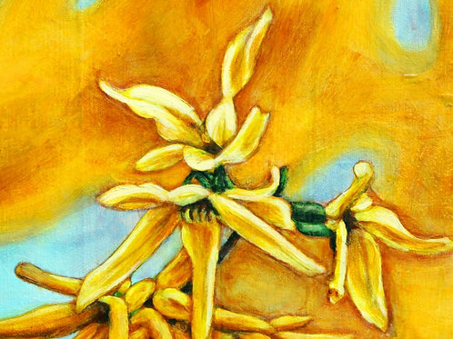 A Burst of Yellow Greeting Card