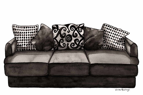 If My House Were a Couch Greeting Card