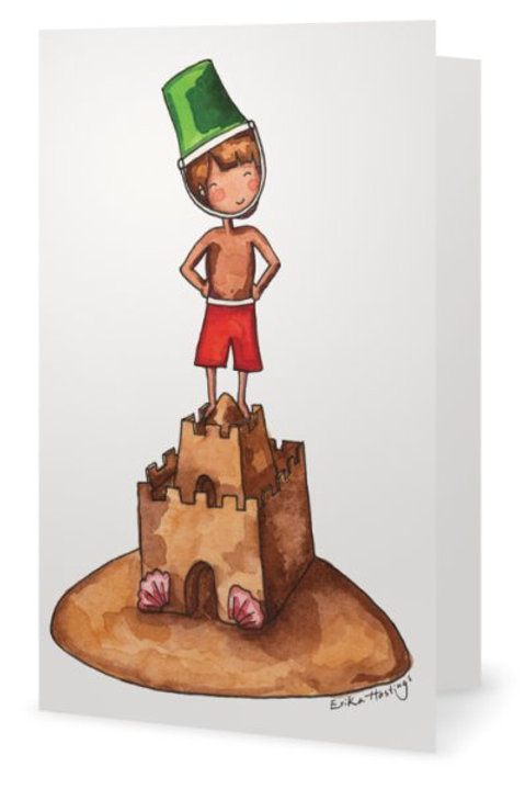 King of the Sandcastle Greeting Card