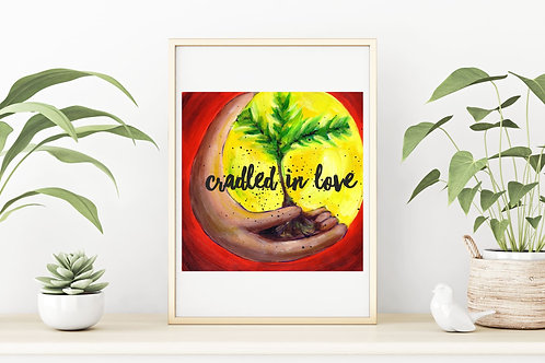 Cradled in Love Fine Art & Canvas Prints