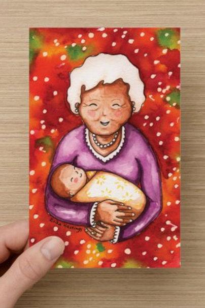 Grandma and Baby Greeting Card