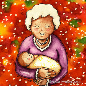 Grandma and Baby –  Painting