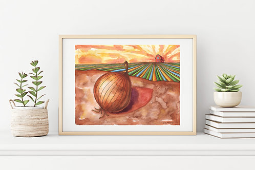 The Onion that Set the World on Fire Canvas & Art Prints