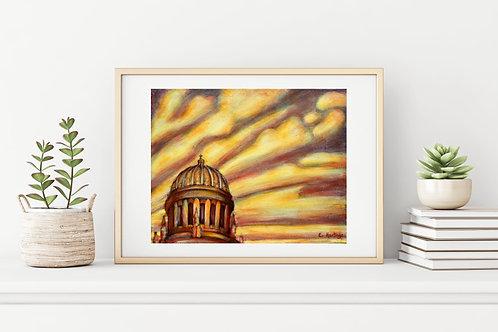 Flowing Gold Canvas & Art Prints