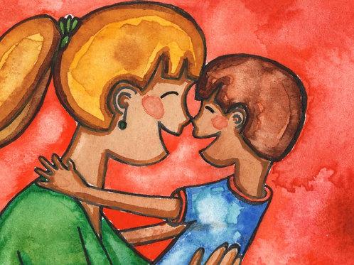 Nose Kiss Greeting Card