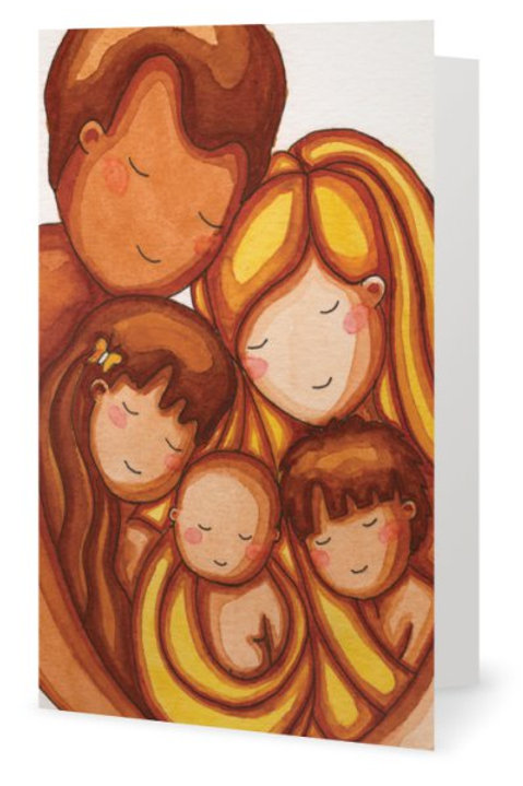 Peace in the Family Greeting Card