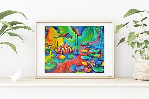 Floating Lotus Fine Art & Canvas Prints