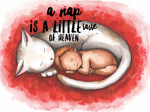 A Nap is a Little Taste of Heaven Greeting Card
