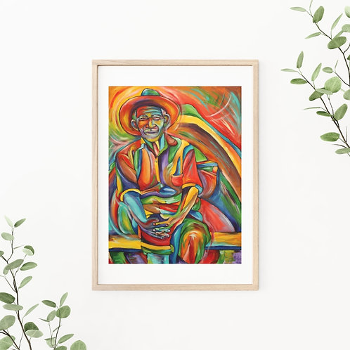 Mexican Man in Boat Fine Art & Canvas Prints