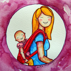 Baby Wearing – Painting