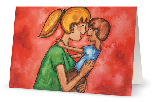 Nose Kiss Greeting Card