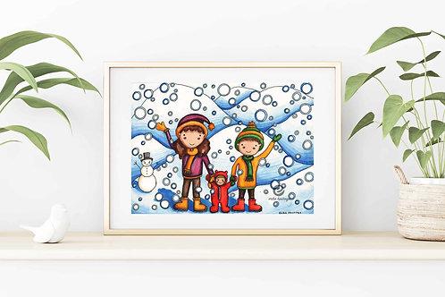 It's Snowing! Canvas & Art Prints