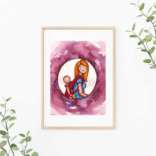 Baby Wearing Canvas & Art Prints
