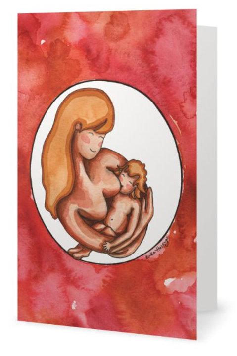 Breastfeeding a Toddler Greeting Card