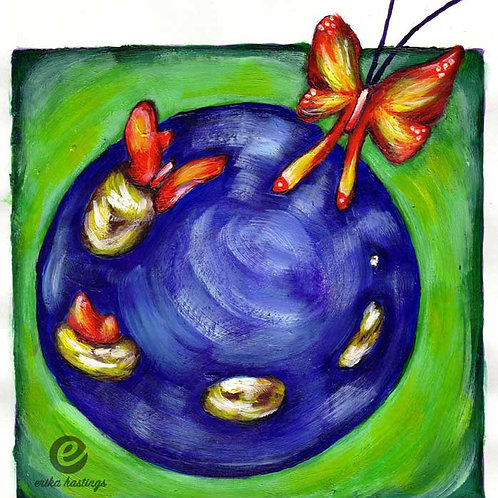 Butterfly Transformation Greeting Card