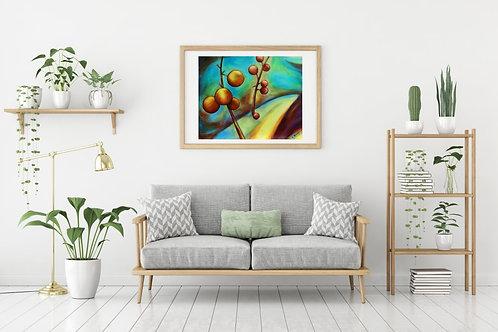 "Fairy Charms 16""x20"": Original autumn, nature art"